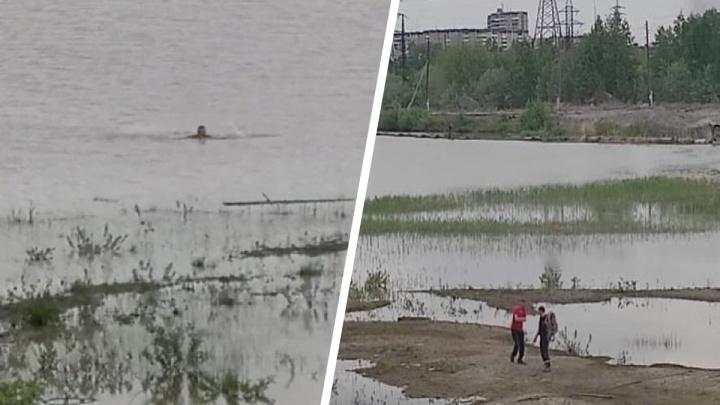 На Урале спасатели вызволили мужчину, который застрял в песке на середине водоема