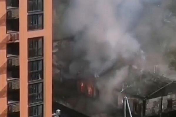 Кадр с видео пожара