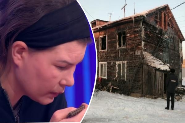 Мать четверых погибших детей пришла в студию Первого канала