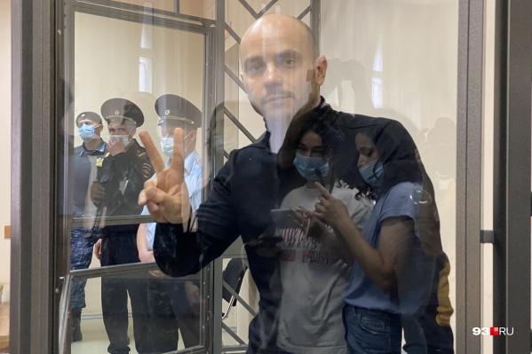Андрей Пивоваров в зале Первомайского районного суда Краснодара