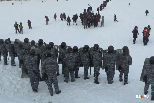 Людей вытеснили на лед