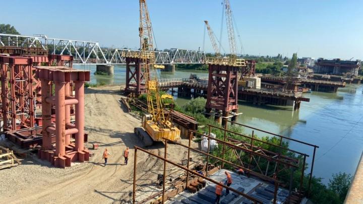 Яблоновский мост между Краснодаром и Адыгеей готов на треть