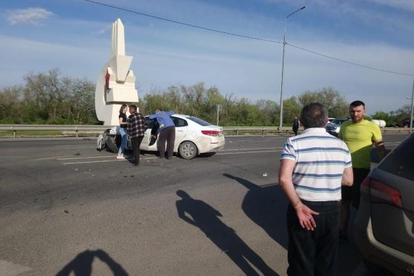 ДТП произошло на трассе в сторону села Малые Чапурники