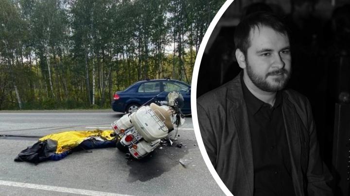 Байкер, погибший на трассе М-5 под Миассом, перед наездом на фуру врезался в машину отца