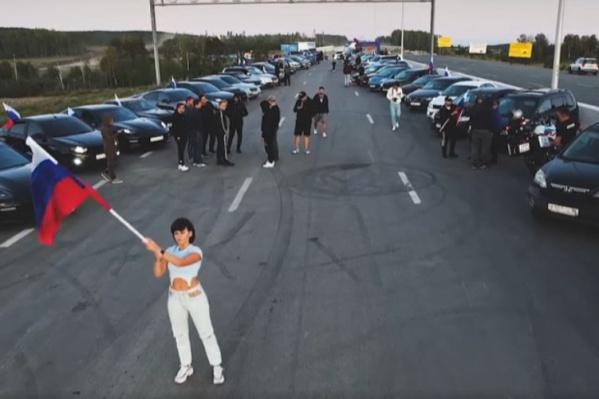 Автомобилисты поддерживают российских спортсменов