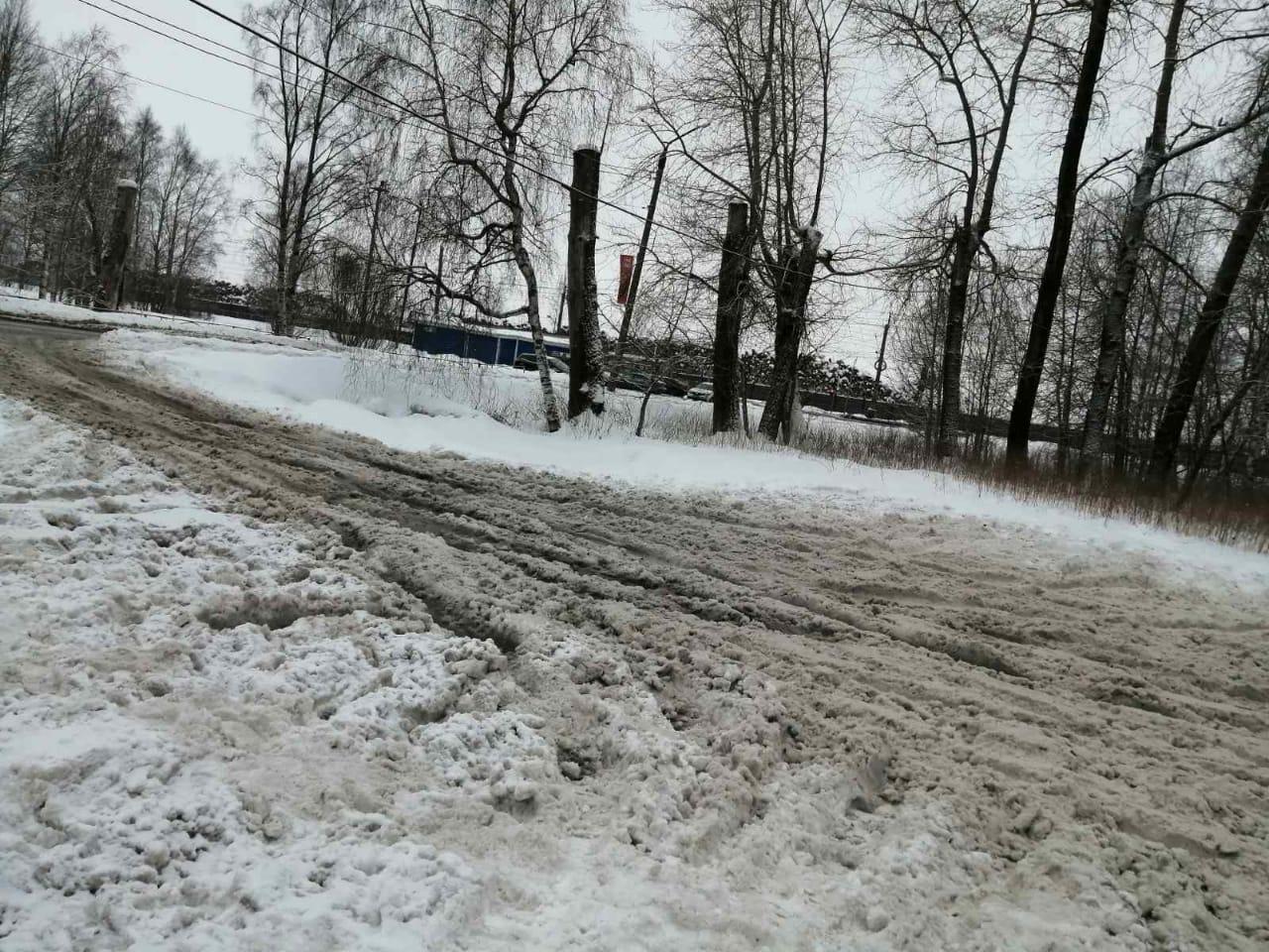 Так выглядит дорога на улице Чкалова, где сложно ходить
