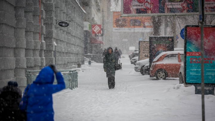 На Новосибирск надвигаются метели и сильный ветер