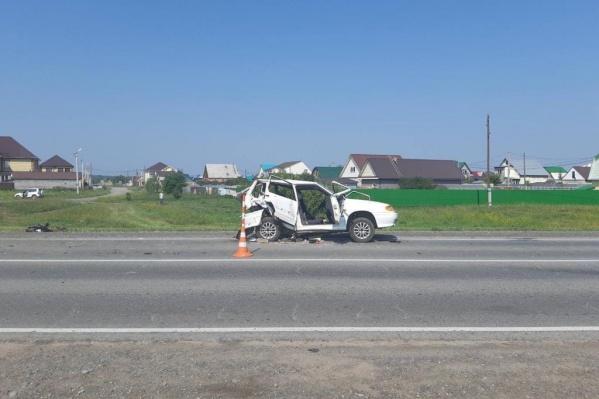 Авария унесла жизнь одного человека из этого авто