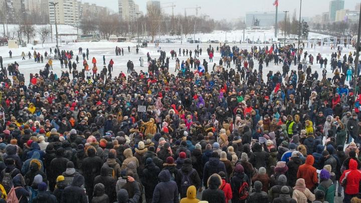 Официальные данные: в акции в поддержку Алексея Навального приняли участие 2 тысячи пермяков