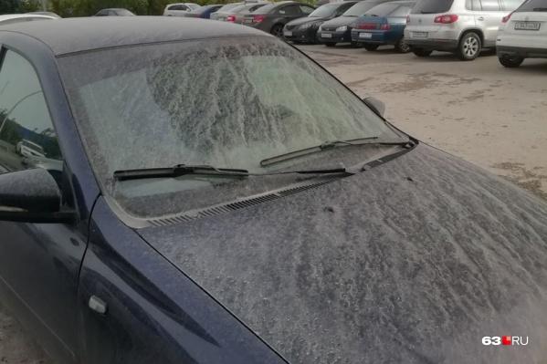 Вот такими обнаружили свои авто утром 25 сентября жители Самары