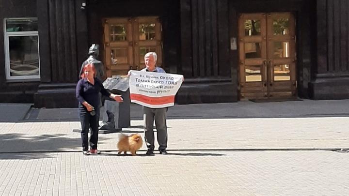 В Челябинске задержали экоактивистов, выходивших на пикет к Заксобранию с надписями о цинке и ртути