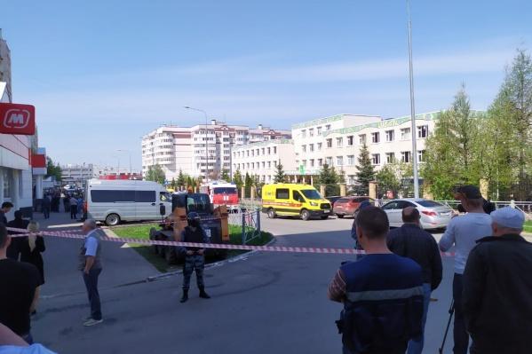 Стрельба произошла рано утром в школе в Казани