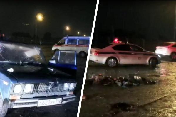 """Вечером 4 июня столкнулись автомобили <nobr class=""""_"""">Toyota RAV 4</nobr> и ВАЗ-2106"""