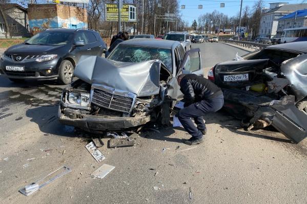 Столкнулись сразу четыре машины