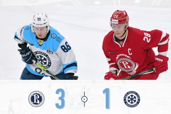 Более живо «Сибирь» играла в третьем периоде, но на протяжении всего матча лидировал «Витязь»