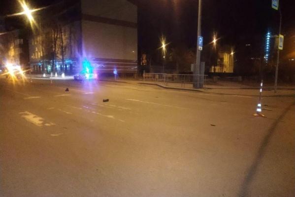 Авария произошла ночью 7 апреля на улице Малыгина