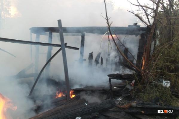 Дом сгорел дотла