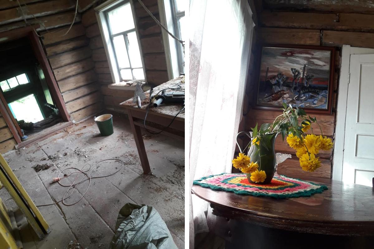 Постепенно дом становился всё уютнее. Светлане и Андрею деревянные стены без потрескавшейся известки нравятся гораздо больше. А вам?