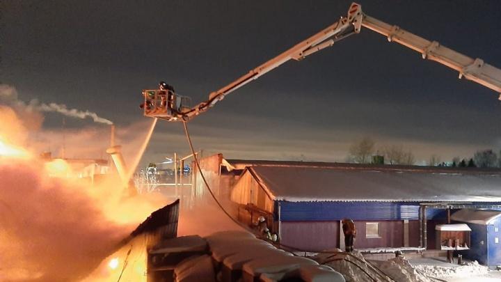 «Всё вокруг затянуло едким смогом»: в Екатеринбурге горит огромный промышленный ангар