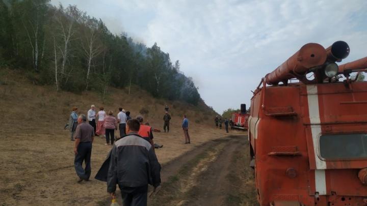 В Башкирии горит гора Юрактау