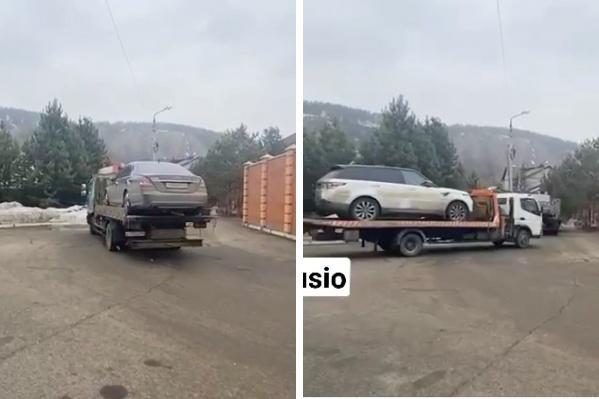 Автомобили Егорова увезли на эвакуаторе