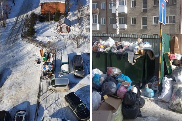 Горы мусора замечают на многих улицах Новосибирска