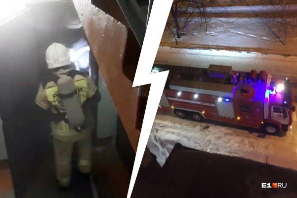 Во время пожара погибли 79-летняя старушка и ее дочь
