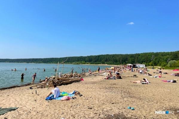 Пляжи будут открыты на выходных в Новосибирске