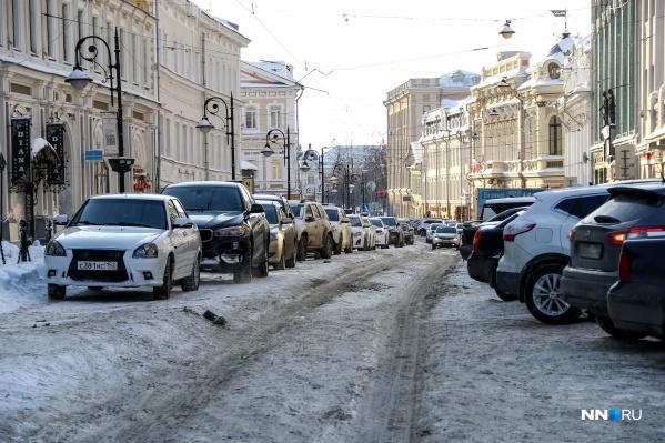 Улица Рожественская. Нечищеное лицо города