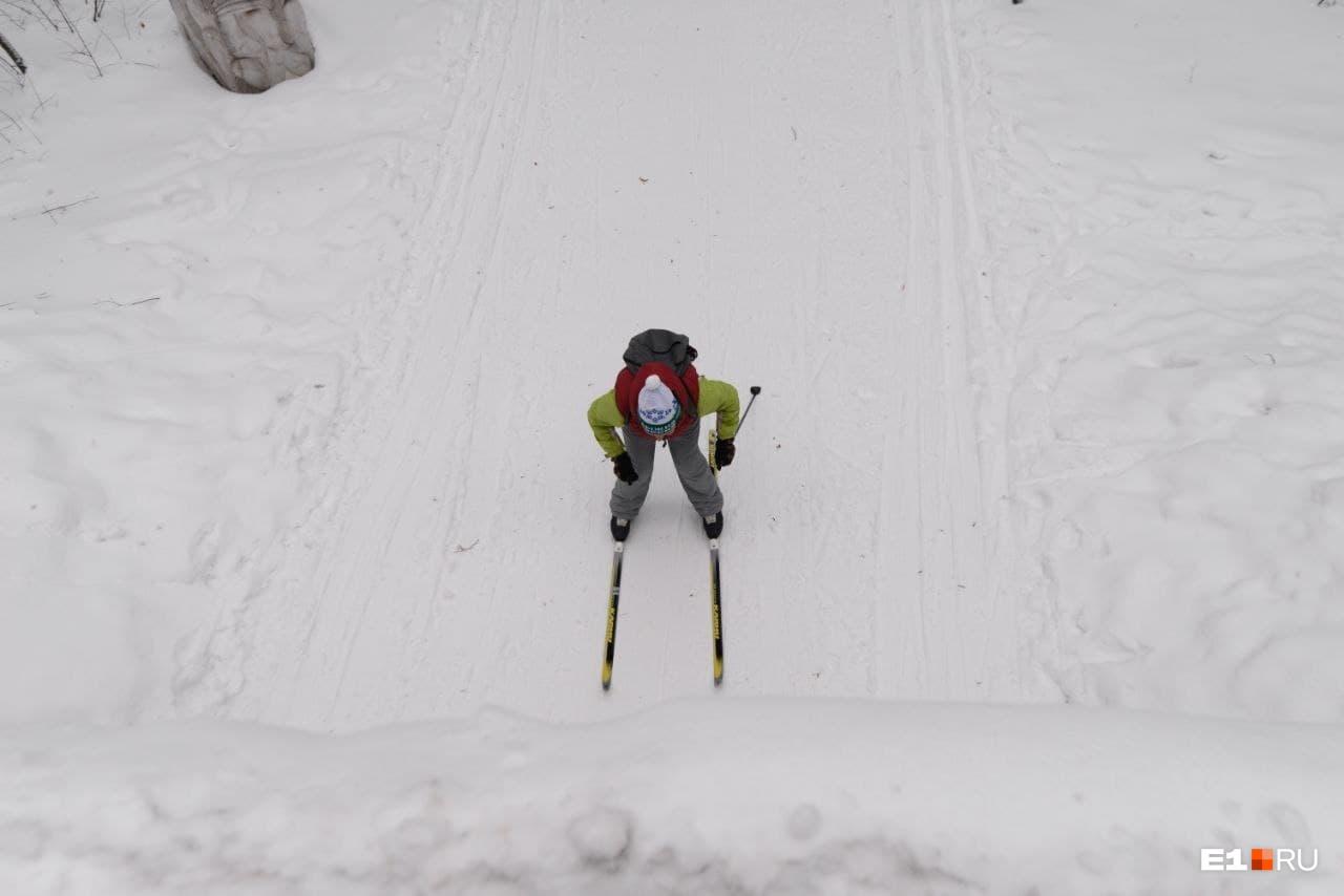 Вид на лыжню сверху