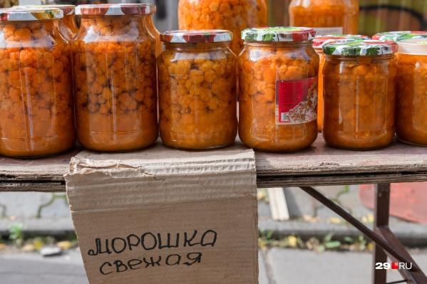 Морошка — самая дорогая ягода на рынках Архангельска