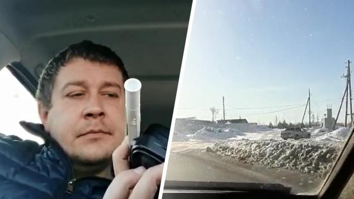 В Артемовском автоинспекторы задержали местного «чемпиона» по пьяной езде: видео