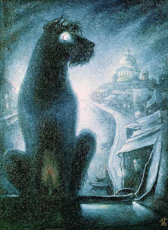 Ирина Бируля. Моя слепая собака. 1986. Холст, авторская техника