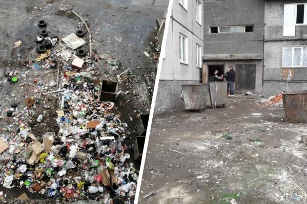 Люди выбрасывали мусор прямо в окно, и его никто не убирал