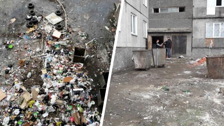 Со двора заваленного из окон мусором дома на Металлургов вывезли все отходы