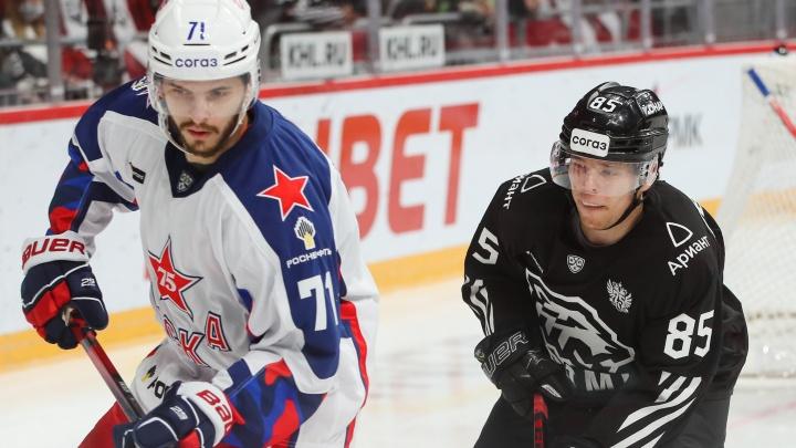 «Трактор» одержал первую за 4,5 года победу над ЦСКА на домашнем льду