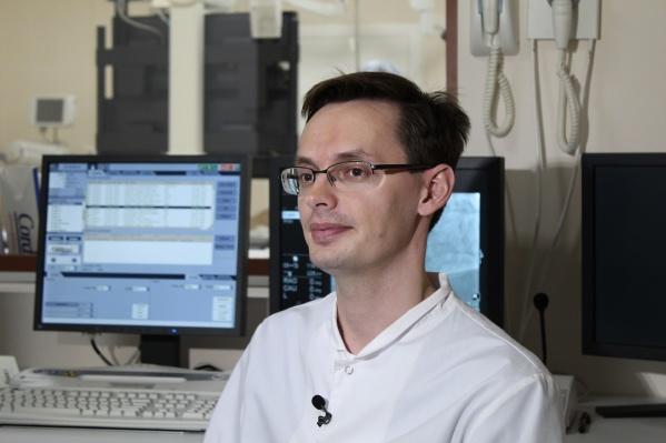 Константин Киреев, руководитель Центра рентгенэндоваскулярных методов диагностики и лечения ЧУЗ «Клиническая больница «РЖД-Медицина» г. Челябинск»
