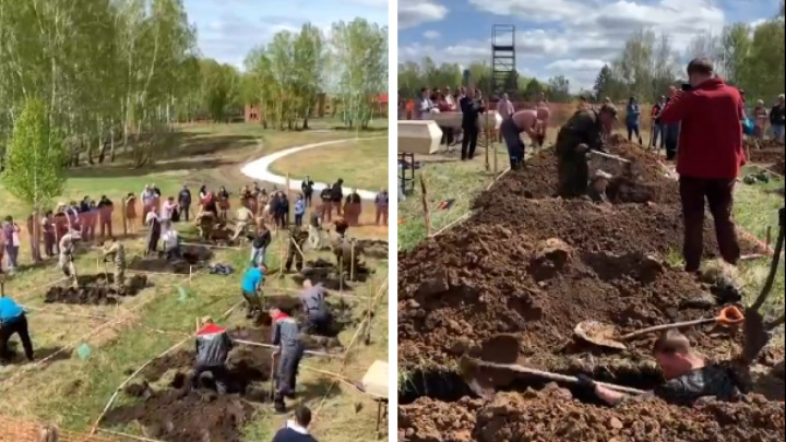 Чемпионат по копанию могил прошел под Новосибирском — видео, как соревнуются гробовщики