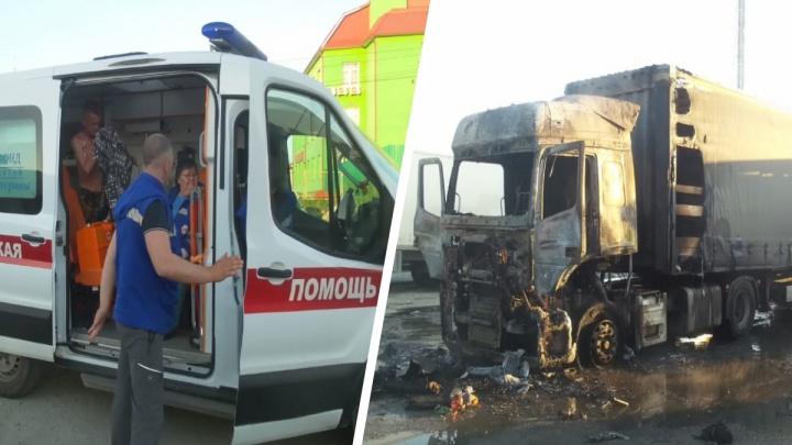 «Водителя выкинуло из кабины через лобовое стекло». На парковке у «Сима-ленда» прогремел взрыв в КамАЗе