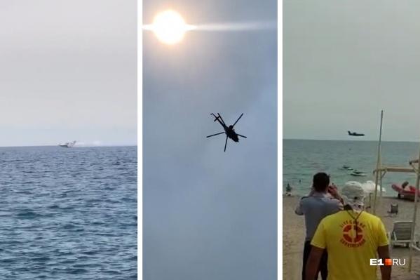 Самолеты и вертолеты пролетают прямо над пляжами