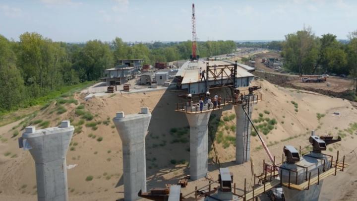 Строители Самарского (Фрунзенского) моста приступили к надвижке путепровода через железную дорогу