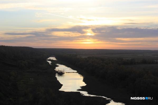 Вид на реку в селе Серебряное