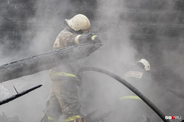 Пожар тушили более <nobr>40 человек</nobr>