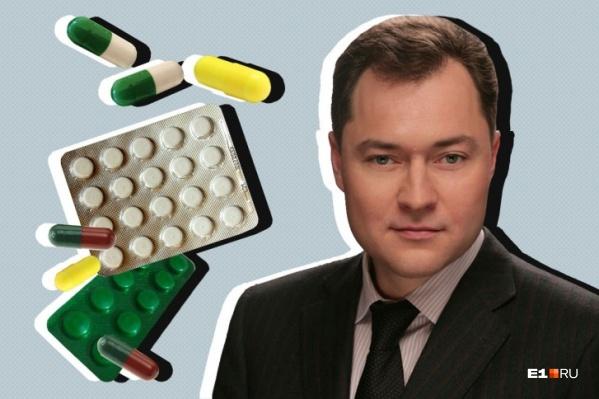 Александр Серебренников контролирует несколько фармацевтических компаний Свердловской области