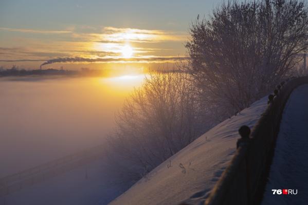 Волга под туманным одеялом