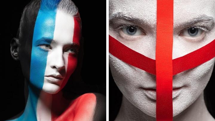 Футбол и красота. Творческие архангелогородки превратили моделей во флаги, вдохновившись ЕВРО2020
