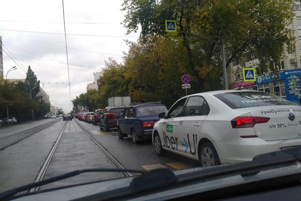 По центру Екатеринбурга сейчас лучше не ездить