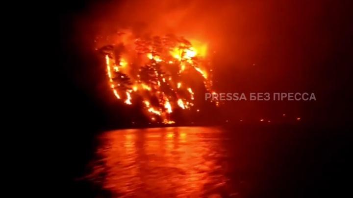 Мэрия Геленджика показала, как выглядел лесной пожар в Кринице