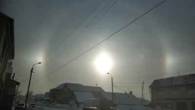 Снова гало: с приходом морозов новосибирцы заметили необычное природное явление