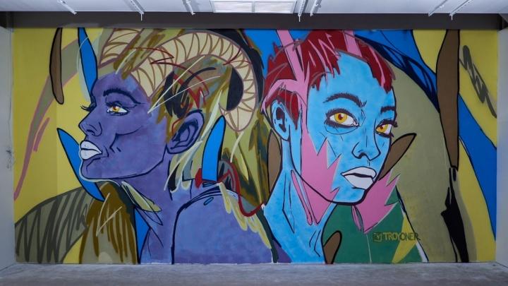 На подземной парковке ТЦ в Покровке появилась галерея уличного искусства